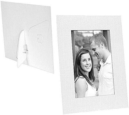 Amazon.com: White Paper Cardstock Photo Easel 4x6 Frame W/plain