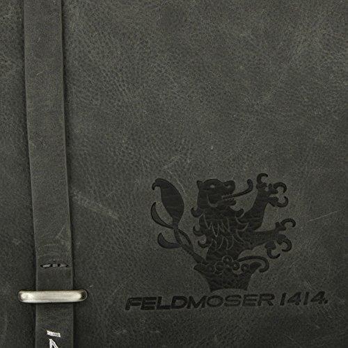 Feldmoser1414 Morgan Umhängetasche Leder 26 cm Grau