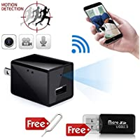 WIFI Camera Charger Adapter,1080P HD USB Wall Charger Camera Adapter Support 128G Internal Memory(without SD Card)