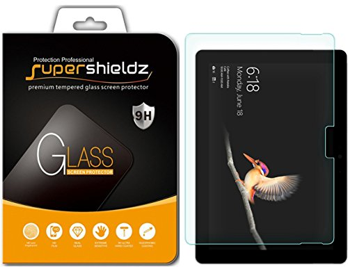 Supershieldz for Microsoft Surface Go Tempered Glass Screen Protector, Anti-Scratch, Bubble Free, Lifetime Replacement Warranty