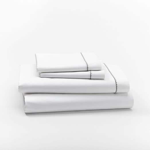 350-Thread-Coun​t Organic Sateen Sheet Set | west elm