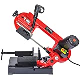 """General International BS5202 4"""" 5A Metal Cutting Band Saw, Red, Black & Gray"""
