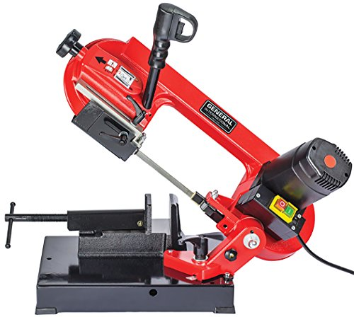 General International BS5202 4' 5A Metal Cutting Band Saw, Red, Black & Gray