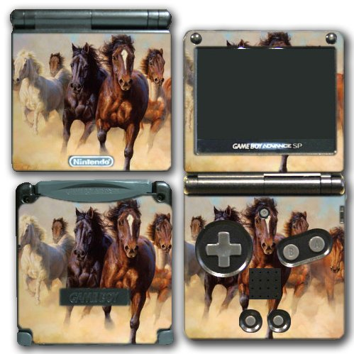 Wild Horses Ponies Running Video Game Vinyl Decal Skin St...