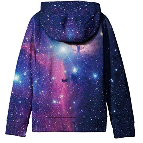 02822917527f5 خرید SAYM Big Girls' Youth Galaxy Teen Fleece Full Zip Jackets Pullover  Hoodies | مالتینا