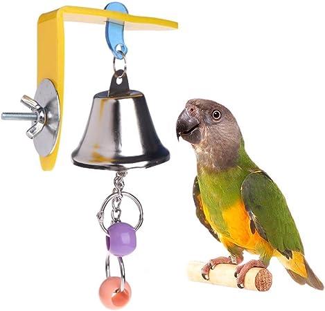 Parrot Cage Toy Chew Ball Bird Pet Parakeet Cockatiel Swing Hanging Toys Bites
