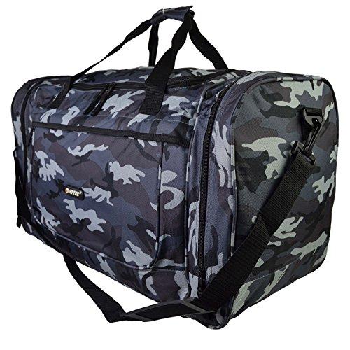 Hombre Grande Camuflaje bolsa por Hi-Tec Espaciosa GIMNASIO VIAJE 3Colores Grey Camouflage