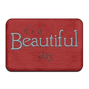 Beautiful Day Funny interior puerta esteras al aire libre Doormats para puerta delantera