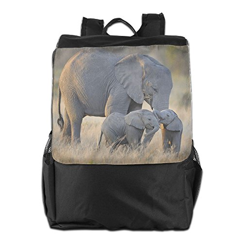 African Elephants Families Unisex Casual Hiking Backpacks by HIFUN