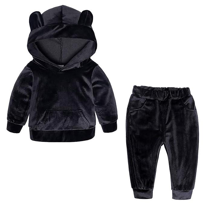 1d048b97d ARAUS Kids Tracksuit Boy Girl Velvet Sweatshirt Top Pants Trousers Clothes  Set Outfit 1-8 Years: Amazon.co.uk: Clothing