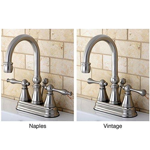 Kingston Brass High Spout Centerset Satin Nickel Bathroom Faucet Naples Lever by Kingston Brass
