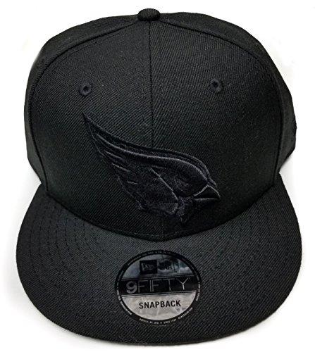 New Era Arizona Cardinals 9Fifty Black & Black Logo Field Adjustable Snapback Hat NFL