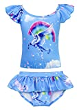 AmzBarley Unicorn Girls Two-Pieces Swimsuit Toddler Swimwear Bikinis Set