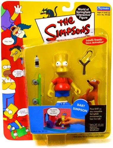 the simpsons world of springfield interactive Figure bart simpson Playmates 99102