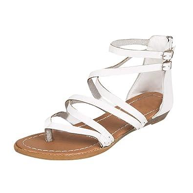 e3c14de9beab Theshy Shoes Women Ladies Sandals Cross Strap Beach Fashion Flat Roman Shoes  Casual Shoes