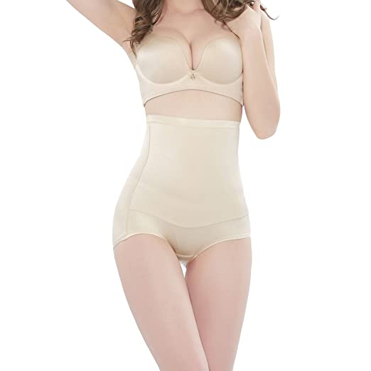 421d1e624fd91 TINGLU Women s High Waist Tummy Control Body Shaper Sexy Underwear Seamless Butt  Lifter Firm Beige Shapewear