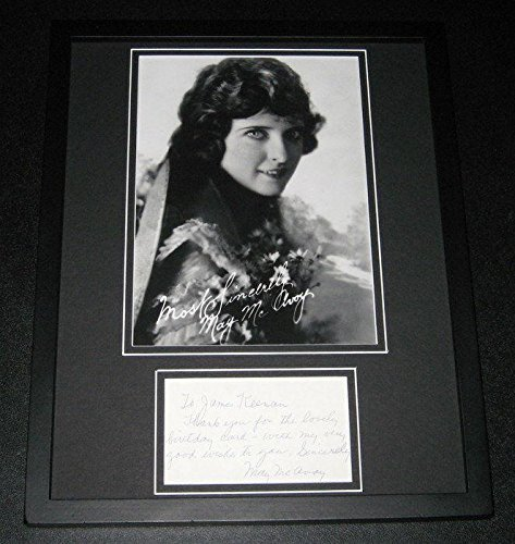 May McAvoy Signed Framed 11x14 Note & Photo Exhibition