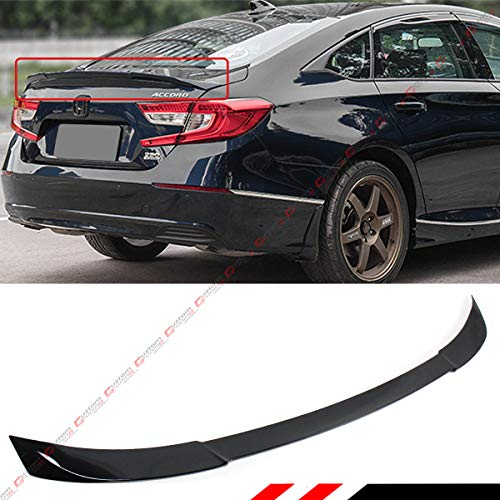 Cuztom Tuning Fits for 2018-2019 Honda Accord Akasaka JDM Style Flush Fit Trunk Lid Spoiler-Painted Black Pearl Finish (Best Type Of Pearl)