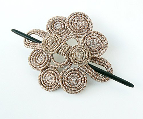 - Wire Hair barrette Fascinator Swirl Curly Hair accessory Stick Copper slide Scarfpin brooch Headdress Sparkly clamp Large clip