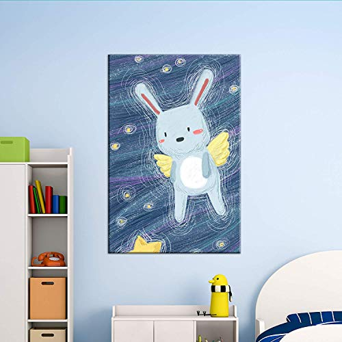 Cute Cartoon Animals A Rabbit Angel Kid