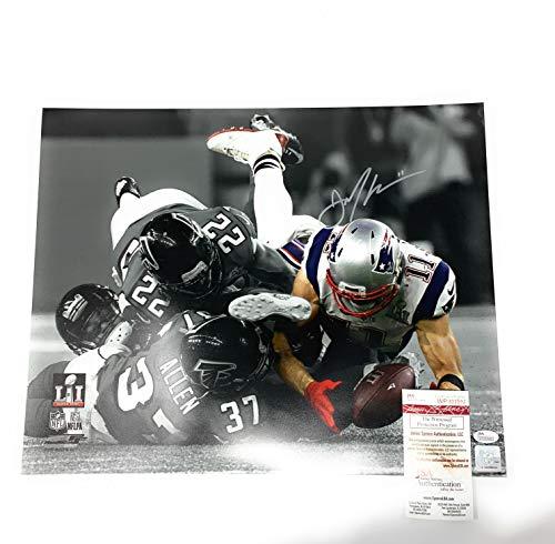 - Julian Edelman New England Patriots Signed Autograph 16x20 Photo Photograph The Catch Spotlight JSA Witnessed Certified