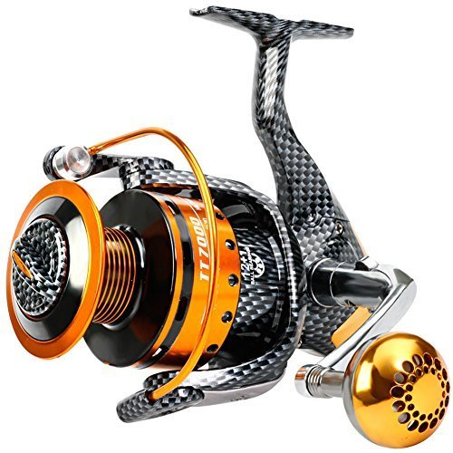 Burning Shark Fishing Reels- 12+1 BB, Light and Smooth Spinning Reels, Powerful...