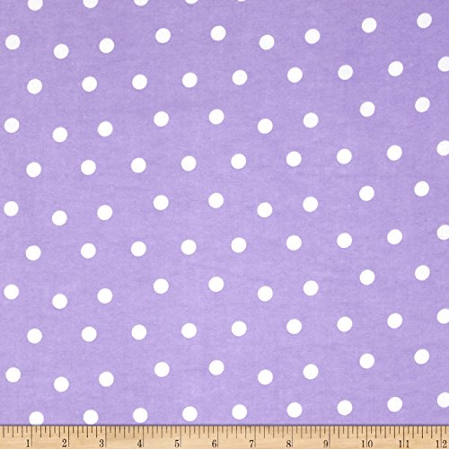 (Fabri-Quilt 0341074 Flannel Dots Purple/White Fabric by The)