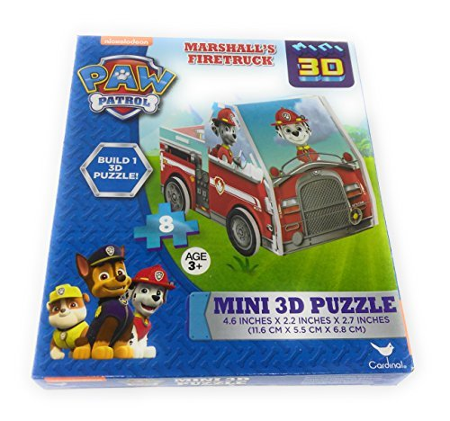 Kids Hot SELLER 8 Piece Nickelodeon Shape Jigsaw Puzzle Marshall's Firetruck Square Paw 3D