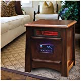 Lifesmart 8 Infrared Heater 1500 W w/Remote Quartz Technology Dark Maple