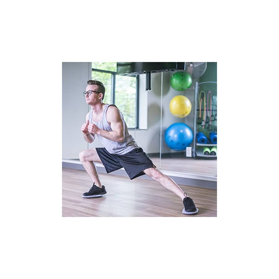 Core Gliding Discs Dual Surface Pair Home Exercise Equipment for an Intense Full Body Workout These Sliding Discs Will Increase Stamina & Burn Fat