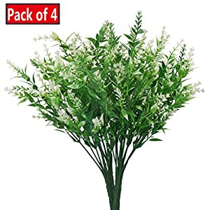 JWCTECH Artificial Plants Flowers Artificial Plants Greenery Artificial Flowers 10