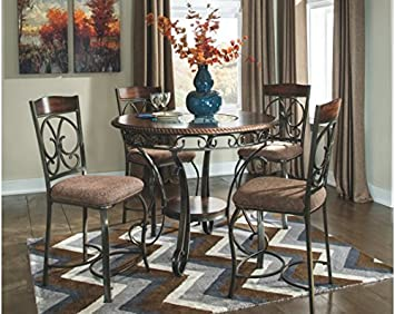 Ashley Furniture Signature Design – Glambrey Dining Room Table – Counter Height – Brown