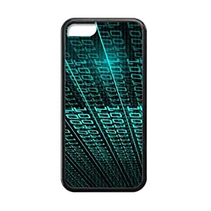 LJF phone case Binary Code Cool 3D Solid Fashion Rubber Case Cover for iphone 5/5s