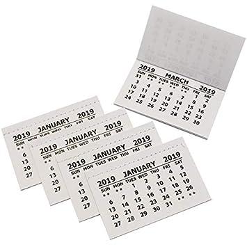 2019 Calendar Tabs Insert Tabs White Mini Calender Tear Off Pads