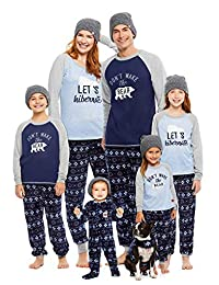 Family Let's Hibernate Matching Pajama Set | Mens 2-Piece Pajamas Size L