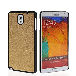 EVERGREENBUYING Case For Samsung Galaxy Note 3 N9000 Bling Rubber Coating Hard Back Shell Cover Gold
