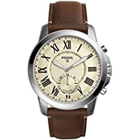 Hybrid Smartwatch - Q Grant Dark Brown Leather FTW1118