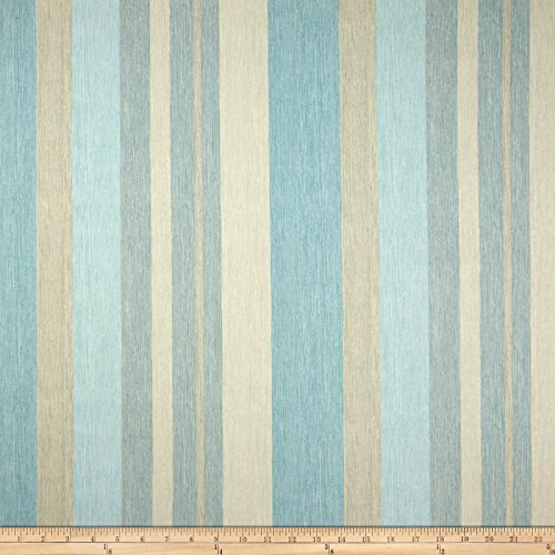 Braemore Remembrance Stripe Aquamarine Fabric By The Yard (Stripe Upholstery)