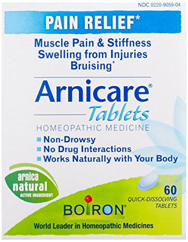 Boiron Arnicare, 60 Tablets, Homeopathic Medicine for Pain Relief from Boiron