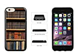 Book Shelf TPU Rubber SILICONE Phone Case Back Cover For Apple iPhone 6 Plus iPhone 6s Plus (5.5 Inches Screen) comes with Security Tag and MyPhone Designs(TM) Cleaning Cloth