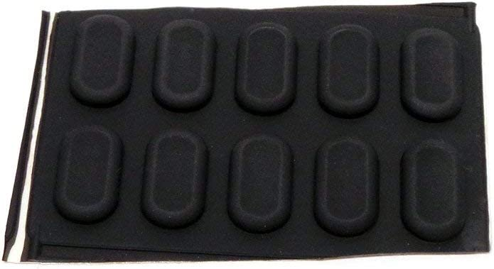 Genuine Dell Latitude 120L D410 D420 D430 D620 D630 Case 10-Piece Bottom Rubber Feet Laptop Notebook Stickers Compatible Part Numbers: R6536, 0R6536 (Renewed)