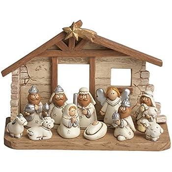 Amazon Com Melissa Doug Classic Wooden Christmas Nativity