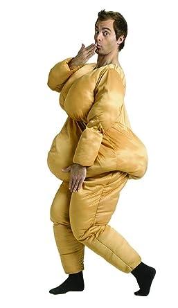 Amazon Com Fun World Men S Fat Suit Beige Std Up To 6 200 Lbs