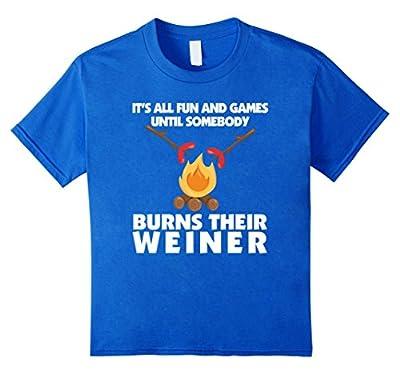 Camping Shirt Funny Family Campfire Fire Weiner T-Shirt