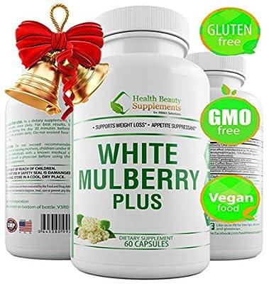 White Mulberry 1000 Supreme,100% Natural, organic formula. Natural blood sugar support supplement, 60 Veggie Capsules