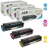 LD Compatible Replacements for HP 304A Set of 3 Toner Cartridges: 1 CC531A Cyan, 1 CC533A Magenta, and 1 CC532A Yellow
