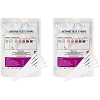 HEALLILY Tiras de Teste de Cetonas de 200 Unidades Testam Os Níveis de Cetose Em Tiras de Teste de Urinálise Com Dieta…