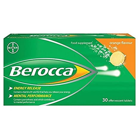 Berocca Effervescent Orange Tablets 30 per pack by Berocca: Amazon.es: Salud y cuidado personal