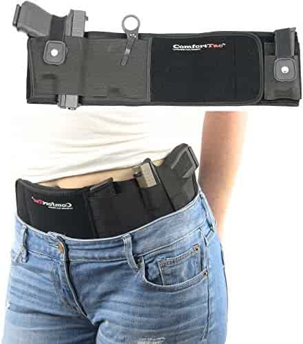 ComfortTac Ultimate Belly Band Holster for Concealed Carry, Black