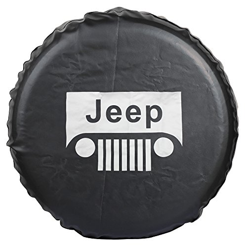 Liberty Tire Spare (Moonet Spare Wheel Tire Cover For Jeep Liberty Wrangler Commander Compass Grand Cherokee Size M R15 235/65R17 255/65R16 215/70R16 235/75R15 245/70R15 235/65R17 255/65R16 (Diameter 28